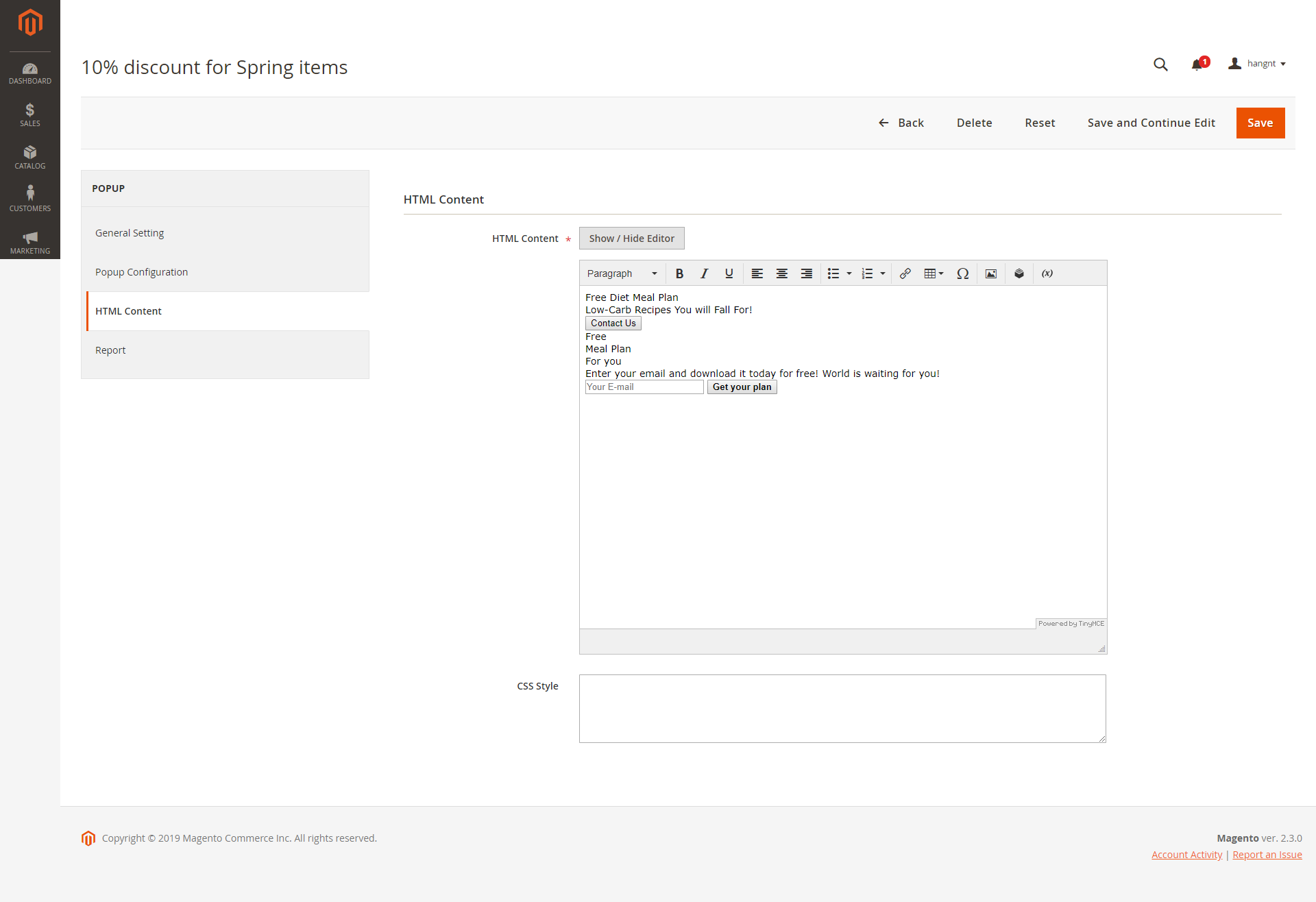 Popup Integration for Magento 2 User Guide - Documentation